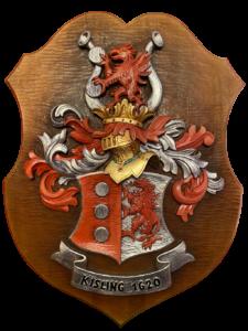 Holzgeschnitztes Wappen